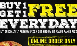 Promo Domino Pizza Buy 1 Get 1 Free Everyday dan 3 Promo Diskon Lainnya