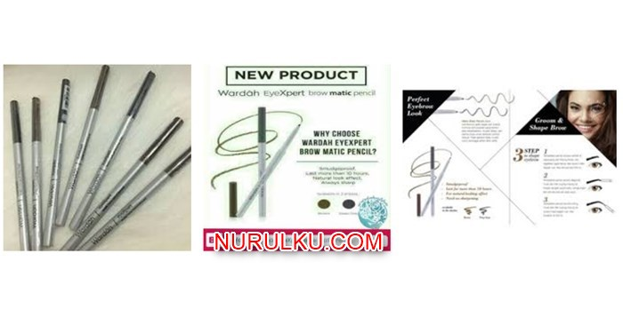 Harga Pensil Alis Wardah dan Review EyeXpert Matic Brow Pencil